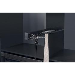 Вешалка для галстуков и поясов Starax S-6748, левая сторона установки, 140х475х70 мм, антрацит