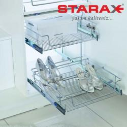 Выдвижная полка для обуви Starax S-6122 хром