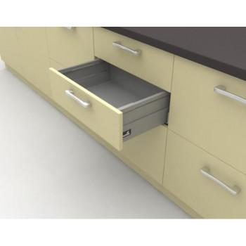 Купить Система для выдвижных ящиков InnoTech Atira частичного выдвижения L350 серебро H144 ВЫДВИЖНЫЕ ЯЩИКИ HETTICH от Hettich (Германия)
