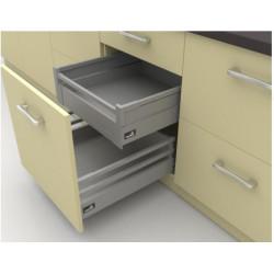 Ящик выдвижной InnoTech Atira полного выдвижения L470 серебро H144