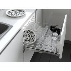 Сушка для посуды нержавейка 450 с доводчиком Inoxa Ellite 5703ЕY хром