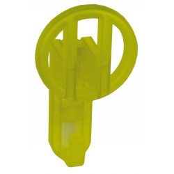 Детские крючки для одежды - прозрачный жёлтый