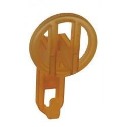 Детские крючки для одежды - прозрачный оранжевый