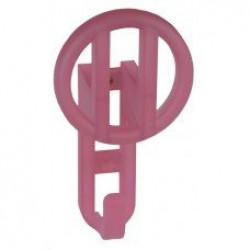 Детские крючки для одежды - прозрачный розовый