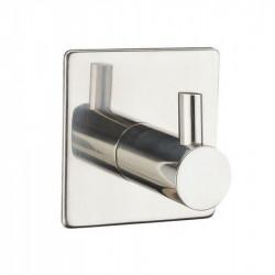 Крючки в ванную из нержавеющей стали одинарный квадратный/прямой, полированный