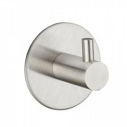 Крючки в ванную из нержавеющей стали одинарный круглый/прямой, матовый