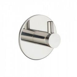 Крючки в ванную из нержавеющей стали одинарный круглый/прямой, полированный