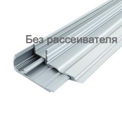 Профиль для светодиодной ленты алюминиевый BIOM для ступенек LPS-22 (LPS-22/1+LPS-22/2) анодированый, (палка 2м)