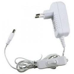 LED-адаптер 18Вт, 12В, IP20 кабель 1,5м + включатель (белый)
