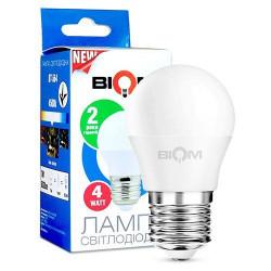 Лампа LED Biom BT-544 G45 4W E27 4500К матовая нейтральный