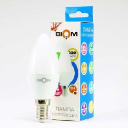 Лампа LED Biom BT-549 C37 4W E14 3000К матовая теплый