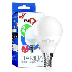 Лампа LED Biom BT-565 G45 7W E14 3000К матовая теплый