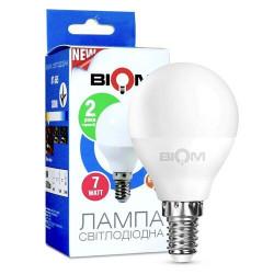 Лампа LED Biom BT-566 G45 7W E14 4500К матовая нейтральный