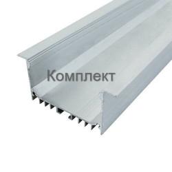 Комплект профиль + рассеиватель для светодиодной ленты алюминиевый BIOM ЛСВ-55 32*55мм анодированный, 2м