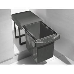 Выдвижное ведро мусорное 16 л INOXA ардезия