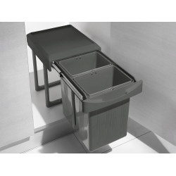 Выдвижное мусорное ведро 2х7,5 л INOXA ардезия
